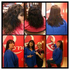 Hoy tenemos cambio radical, Raquel ha tratado el cabello de Yoli con la mejor tratamiento de alisado de Keratina de el mercado, Alfaparf Milano.