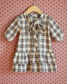 Apple Picking dress in Plaid Flannel – Kids Clothing Ideas Flannel Dress, Plaid Flannel, Little Girl Dresses, Girls Dresses, Kids Outfits, Cool Outfits, Toddler Girl Style, Kid Styles, Sewing For Kids