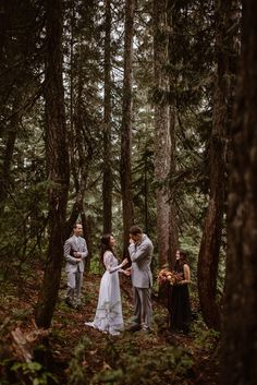 Sweet emotional ceremony moment at this intimate elopement | Image by Adventure Instead