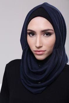 Navy Hijab Fashion, Lacoste, Shawl, Navy, Shopping, Patterns, Style, Block Prints, Hijab Fashion Style