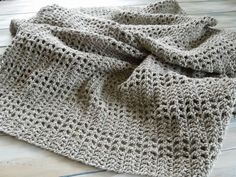 Happy Berry Crochet: How To Crochet an Afghan or Baby Blanket with a mesh filet design - Yarn Scrap Friday