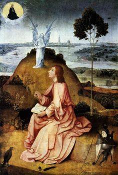 San Juan el Evangelista en Patmos; entre 1489 y 1500. Óleo sobre tabla; 63 × 43,3 cm. emäldegalerie ( Berlín )