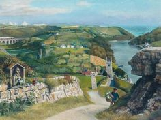 Richard Eurich, Cornwall. Deep in the Sothebys website, their catalogues now go back for more than 10 years, & they include the many of the original paintings commissioned by Shell for its post-war educational posters. Shell commission ed the usual run of poster artists for their educational posters, the people concerned are mostly illustrators. Some of the finest illustrators working in the 1950s and 60s, to be precise, like David Gentleman, S R Badmin, Tristram Hillier and Rowland Hilder.