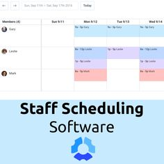 7 best staff scheduling software images management software