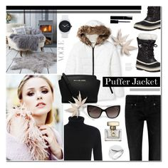 """Puffer Jacket"" by anyasdesigns ❤ liked on Polyvore featuring moda, SOREL, Celebrity Pink, R13, MICHAEL Michael Kors, Tom Wood, Chanel, Nixon, women's clothing i women"