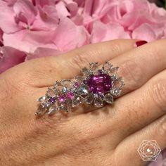 Nirav Modi. Via Bérengère Treussard | Like a b (@likeab) on Instagram: Pink Orchid Ring by @niravmodijewels w/ a 4.42 sapphire from Sri Lanka LOVE IT! @labiennaleparis - credit #berengeretreussard @likeab .