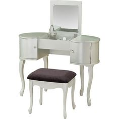 Linon Paloma Vanity Set with Mirror