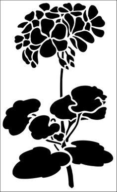 stencil di fiori dallo stencil biblioteca. Catalogo Stencil la descrizione breve pagina 10.