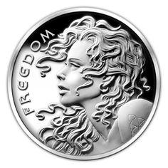 RARE 1 OZ SBSS Silver Shield 2013 SLAVE QUEEN SPECIAL BU PROOF W// COA /& Blue Box
