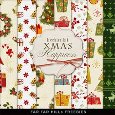 New Freebies Kit of Backgrounds - Xmas Happiness