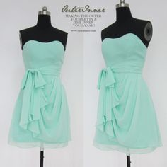Cute sheath dress in mint green which could be worn as a bridesmaid dress, or just a casual dress for any occasion!  Short Chiffon Dress with Draped Overskirt  Style Code: 08348  $74  Get it here: http://www.outerinner.com/short-chiffon-dress-with-draped-overskirt-pd-08348-0.html?k=08348  #dresses #bridesmaiddress #outerinner