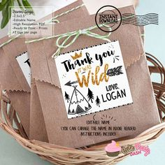 "INSTANT DOWNLOAD - EDITABLE Wild one Favor Tag Black and Gold Wild one Birthday 2.5"" Favor tags - Party decorations King of all wild things by CutePartyDash on Etsy https://www.etsy.com/listing/503280359/instant-download-editable-wild-one-favor"