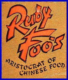 Match book from Ruby Foo's Den in Washington D.C. which opened in 1940 (728 13th Street N.W.)