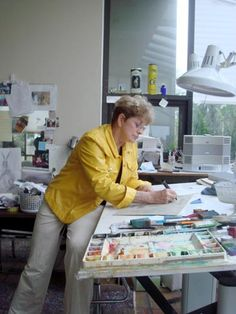 P. Buckley Moss in her Florida Studio. Canada Goose Gallery in Waynesville, Ohio. Largest inventory of P Buckley Moss art in the country!  513-897-4348