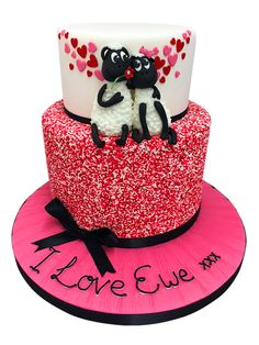 I Love Ewe - Cake by Genuine Cakes No One Loves Me, Valentines Day, Birthday Cake, Cakes, My Love, Desserts, Food, Valentine's Day Diy, Tailgate Desserts