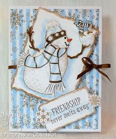 Friendship Never Melts and Snowman With Bird