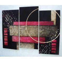 cuadros abstractos con texturas y alto relieve s