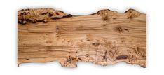 Tischplatte aus einem Stück mit Waldkante. Das Tischgestell wird an die Kundenwünsche angepasst. Elm Tree, Tables, Woodland Forest, Pictures