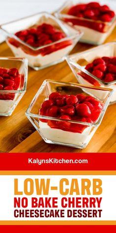 Low Gi Desserts, Cherry Desserts, Cherry Recipes, Sugar Free Desserts, Sugar Free Recipes, Healthy Dessert Recipes, Diabetic Recipes, Baking Recipes, Keto Recipes