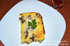 Frittata cu cartofi, ciuperci și brânză Cheddar Meatless Recipes, Frittata, Cheddar, Breakfast, Food, Cheddar Cheese, Eten, Meals