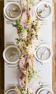 lavender and grey tablescape ideas featuring Theoni Collection tabletop