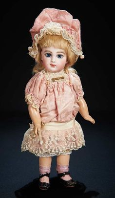 Gorgeous French Bisque Bebe E.J., Size 3, with Fine Original Dress and Bonnet 5500/7500 Auctions Online | Proxibid