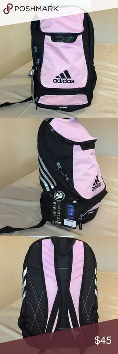 """NWT Adidas Stadium Team Backpack Gala Pink This is a brand new Adidas Stadium Backpack in Gala Pink color. It's made with Hydroshield material which is water resistant. Large size with lots or pockets inside and out. Extra padded shoulder straps for extra comfort with carry loop on top. Dimensions are roughly 13""""x20""""x9.5"""". adidas Bags Backpacks"""
