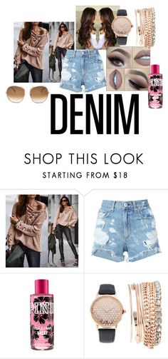 """""""DENIM"""" by rosemariaxx ❤ liked on Polyvore featuring Chicwish, rag & bone/JEAN, Jessica Carlyle and Chloé"""