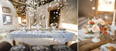 Snowed-in, a do-it-yourself winter wedding idea and a stylized breakfast sweets table; image © Ely Fair Photography.