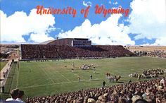 folks come for the football and stay for the sunny weather, year-round. Wyoming Cowboys Football, College Football, Sunny Weather, Colorado, University, Memories, Game, House, Vintage