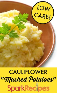 "Cauliflower ""Mashed Potatoes"". YUM! I replaced the sour cream with Greek yogurt. Amazing!
