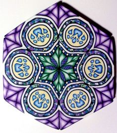 Assembled Arabesque Cane by Sharp Art by Dawna, via Flickr
