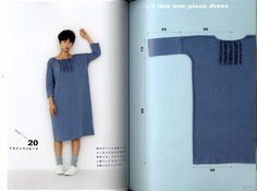 Apron dress Yoshiko Tsukiori cute sewing straight