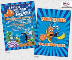 Hey, I found this really awesome Etsy listing at https://www.etsy.com/listing/181275952/finding-nemo-invitations-nemo