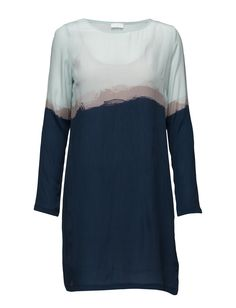 DAY - 2ND Rothko Printed Colour blocking Inner lining Long sleeves Shift style Chic Elegant Modern Dress Dresses Uk Shop, Mother Of The Bride, Colour, Blazer, Navy, Elegant, Printed, Chic, Long Sleeve