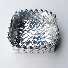 Handmade bowl basket candy wrap technique silver di LOLLOPdesign