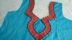 latest Dori &piping neck design cutting and stitching in Hindi