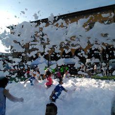 #schiumaparty sul campo di #calcio5 alla #festa dei #Fedelissimi! #vanovarava #novaracalcio
