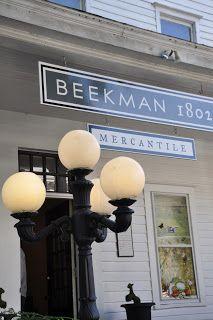 Beekman 1802 Mercantile in Sharon Springs, New York. http://www.traveladdicts.net/2011/09/touring-beekman-boys-farm-at-sharon.html