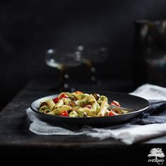 Try this Penne Pesto Pasta Salad recipe made with truRoots®️ Ancient Grains Organic Penne, fresh pesto, mozzarella pearls, tomatoes, Parmesan cheese, and black olives for an easy Meatless Monday recipe!