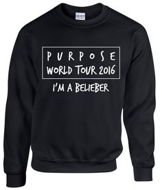 Purpose World Tour 2016  I'm a Belieber  Justin by designs4ushop