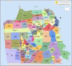 San Francisco Neighborhood Map | Paragon Real Estate Group - helpful for house hunt