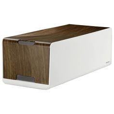 Hama Kabelbox Woodstyle Maxi, Design Ladestation in Holzoptik »mit Kabelclips und Gummifüßen« für 24,99€ bei OTTO