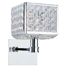 Chrome Finish with Majestic Wood Polished Crystal Wall Sconce CR901CHCLMWP - $270 5.5w x 10h - zinc door - chelsea company