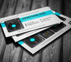18 dj business cards free psd eps ai indesign word pdf turntablist dj business card flashek Images