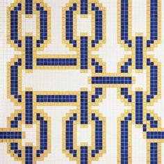 #Bisazza #Decori 2x2 cm Chains Blue | #Gres | su #casaebagno.it a 1174 Euro/collo | #mosaico #bagno #cucina