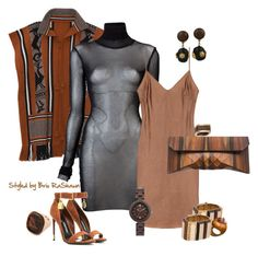 """""""TRIBAL SEXY ..."""" by briorashawn on Polyvore featuring Jaline, Jean-Paul Gaultier, Tom Ford, DOMINIQUE AURIENTIS, WeWood, Vivienne Westwood, Givenchy, Cartier and Christine J. Brandt"""