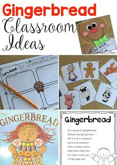 Classroom Ideas and a FREEBIE Gingerbread Reading and Writing activities that help you stay on track with your standards!Gingerbread Reading and Writing activities that help you stay on track with your standards! Gingerbread Man Kindergarten, Gingerbread Man Activities, Christmas Activities, Christmas Themes, Gingerbread Men, Gingerbread Stories, Winter Activities, Christmas Projects, Kindergarten Activities