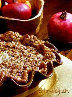 Bourbon Pecan Pie-a Thanksgiving treat | chloesblog.com