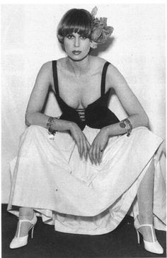 Young Joanna Lumley in a Corset